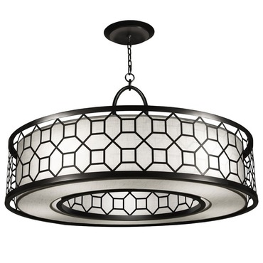 Black and White Story 780340 Round Pendant by Fine Art Lamps | 780340-6GU