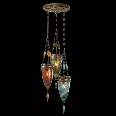 Scheherazade 3 Light Multicolor Pendant by Fine Art Lamps | 608640-5