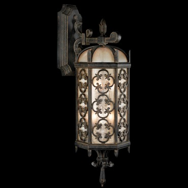 Costa Del Sol Outdoor Top Mount Wall Light by Fine Art Lamps | 338281ST