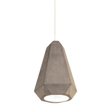 Portland Rough Cast Concrete Pendant by Innermost | LP039320-01