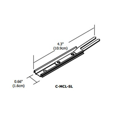 Cirrus Channel Locking Slide Clip by PureEdge Lighting | C-MCL-SL