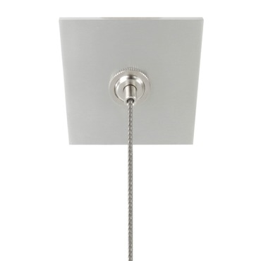 Cirrus Suspension 2 Inch Square Canopy with Junction Box by PureEdge Lighting | CCS-2SQ-JBOX-SA