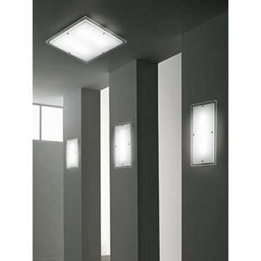 Quadra Ceiling Lamp by Vistosi | PLQU47X47BCEL