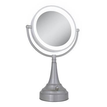 Cordless Dual Sided LED Light Vanity Mirror