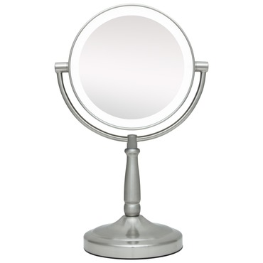 10x/1x Cordless Dual Sided LED Light Vanity Mirror by Zadro | LEDMV410