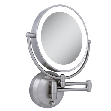 10x/1x Round Battery Operated LED Wall Mirror by Zadro | LEDW410