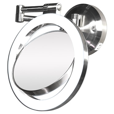 10x/1x Surround Swivel Wall Mount Mirror - Hard wire Ready by Zadro | SLW410HW