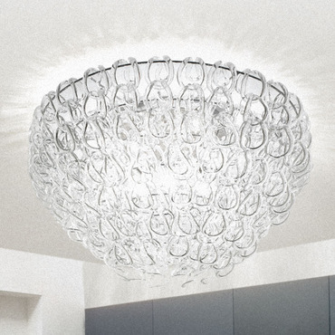 Giogali 31 Ceiling Flush Mount by Vistosi | PLGIOGA80CR