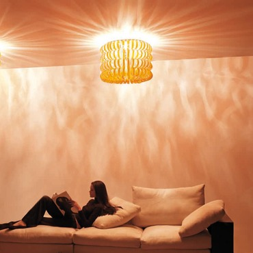 Ecos 60B Ceiling Light by Vistosi | PLECOS60B/ARCR