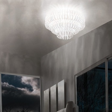 Ecos 90 Ceiling Light by Vistosi | PLECOS90BCCR