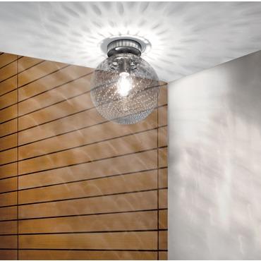 Bolle 10 inch Ceiling Flush Mount by Vistosi | PLBOLLEGBC
