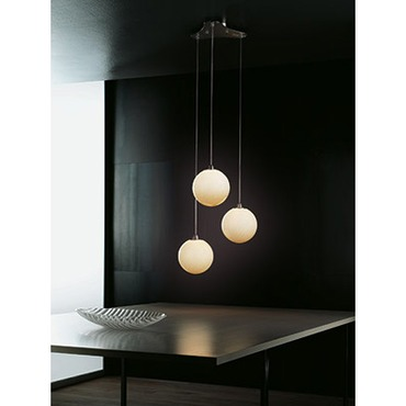 Bolle 3-light Pendant by Vistosi | SPBOLLE3PTONI