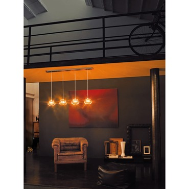 Diamante 4-light Pendant by Vistosi | SPDIAMA4TONI