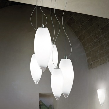 Baco Multi Light Pendant by Vistosi | SPBACO5CRNI