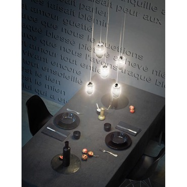 Damasco 5-light Pendant by Vistosi | SPDAMAS5CBCNI
