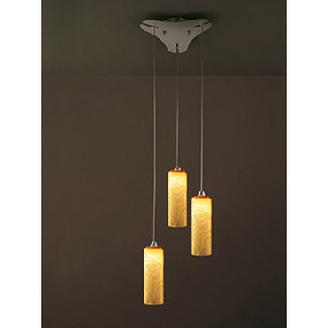 Follia 3-light Pendant by Vistosi | SPFOLL3PTOCRNI