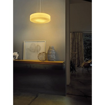 Follia Round Pendant by Vistosi | SPFOLL42TOCRNI
