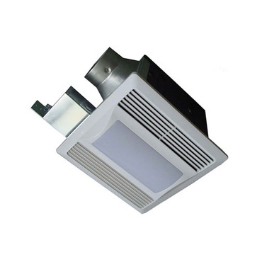 SBF 110 L1 Super Quiet Ventilation Fan and Light by Aero Pure | SBF110L1W