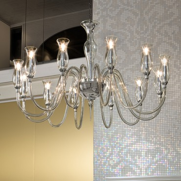 1020 One Tier Chandelier by Lightology Collection | LC-1020/12-K-CR