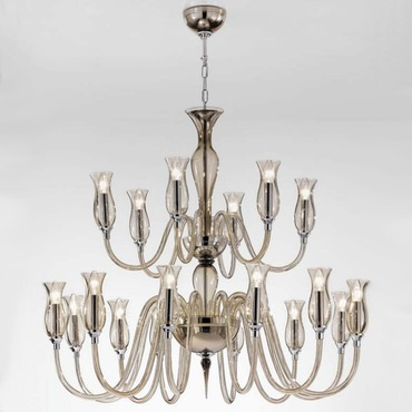 1020 Two Tier Chandelier by Lightology Collection | LC-1020/12+6-K-FU