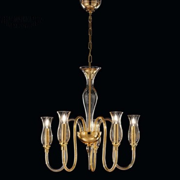 1020 One Tier Chandelier by Lightology Collection | LC-1020/5-D-D.A