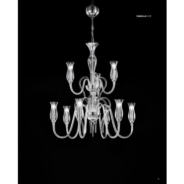 1022 Two Tier Chandelier by Lightology Collection | LC-1022/12+6-K-CR