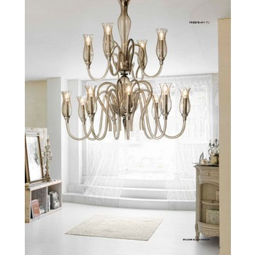 1022 Two Tier Chandelier by Lightology Collection | LC-1022/8+4-K-FU