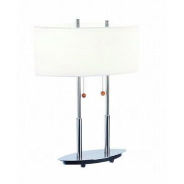 Bliss Table Lamp by Lite Source Inc. | LS-3821PS/WHT