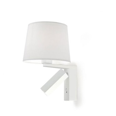 Hall Wall Sconce with Shade by Leds C4 Grok | LC-05-1941-BW-82+157-14