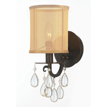 Hampton 1 Light Wall Sconce by Crystorama | 5621-EB