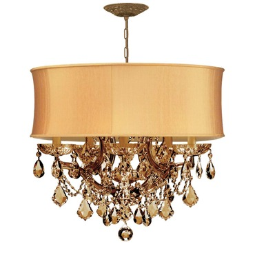 Brentwood Maria Theresa Chandelier by Crystorama | 4415-AB-SHG-GTS