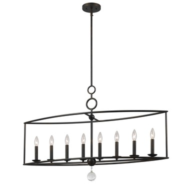 Cameron Linear Chandelier by Crystorama | 9168-EB