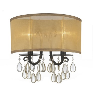Hampton 2 Wall Light by Crystorama | 5622-EB