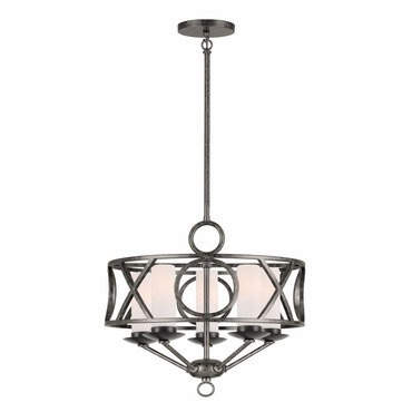 Odette Glass Shade Pendant by Crystorama | 9445-EB