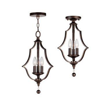 Parson Convertible Semi-Flush Ceiling by Crystorama   9350-EB