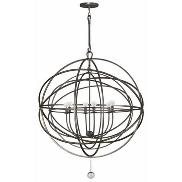 Solaris 10 Ring Chandelier by Crystorama | 9209-EB