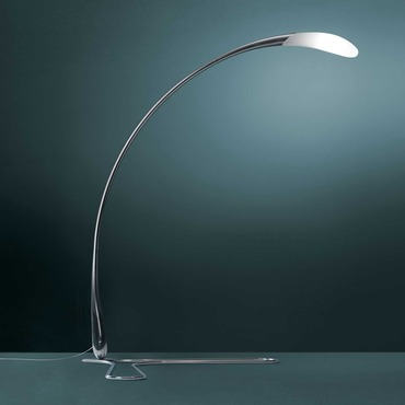 Flora Floor Lamp with Bent Metal Base