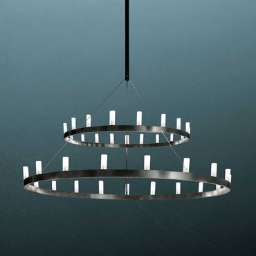 Chandelier 2 Tier Suspension by FontanaArte | UL5491/22N