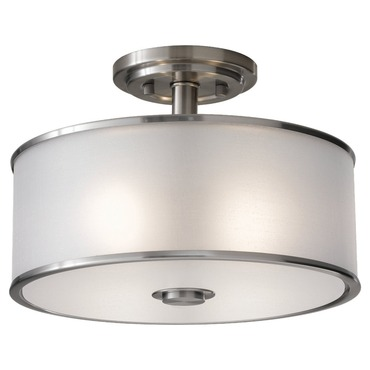 Casual Luxury Semi Flush Ceiling Light by Feiss | SF251BS