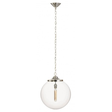 Kilo Retro 1 Chain Pendant Filament Tube Lamp by Stone Lighting | CH520CRPNRT4A