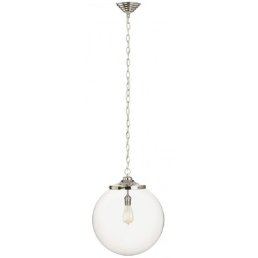 Kilo 1 Light Retro Pendant with Chain by Stone Lighting | CH520CRPNRT6B