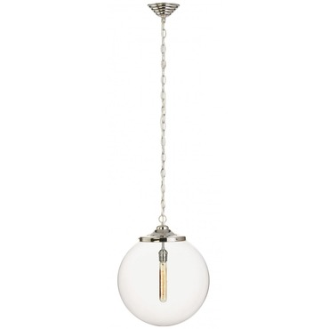 Kilo 1 Light Spiral Pendant with Chain by Stone Lighting | CH520CRPNRT4SA