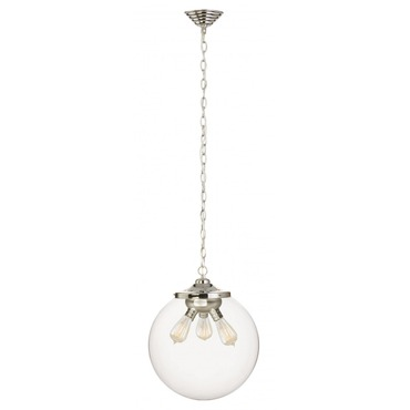Kilo 3 Light Retro Pendant with Chain by Stone Lighting | CH522CRPNRT6B