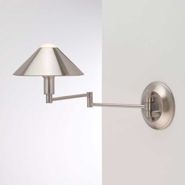 Aging Eye Metal Shade Swing Arm Light by Holtkoetter | 9416 SN