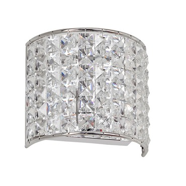 Crystal Vanity Wall Sconce by Dainolite | V677-1W-PC