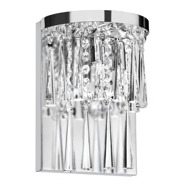 Josephine Crystal Wall Sconce by Dainolite | JOS-7-2W-PC