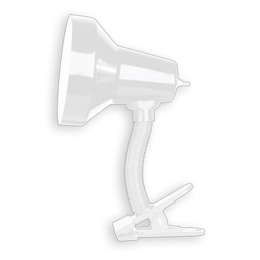 Gooseneck Clip On Lamp by Dainolite | DXL16-WH