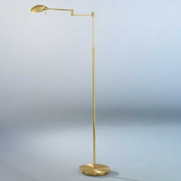 Bernie LED Turbo Swing Arm Floor Lamp by Holtkoetter | 6424LEDP1 PBBB