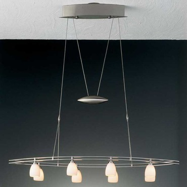 5508 Large Oval Adjustable Pendant by Holtkoetter | 5508 SN G5000
