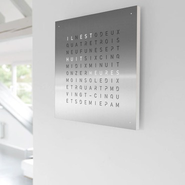 Qlocktwo French Wall Clock